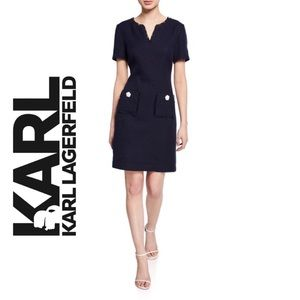 NWT Karl Lagerfeld Tweed Knit Dress